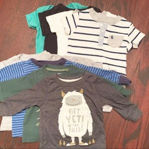 Carter's Long Sleeve and Onesie Bundle (Set of 8)